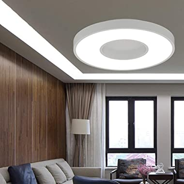 WGFGXQ Le plafonnier mené Rond, plafonnier mené affleurant de Salon Moderne 40W, Aluminium et Acrylique Finis