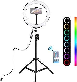 Alan 10 Pulgadas Aro de Luz con Tripode 110cm, Ring Light para Maquillaje, Tiktok, Stream, Fotografia, Vlog (Control Remoto)
