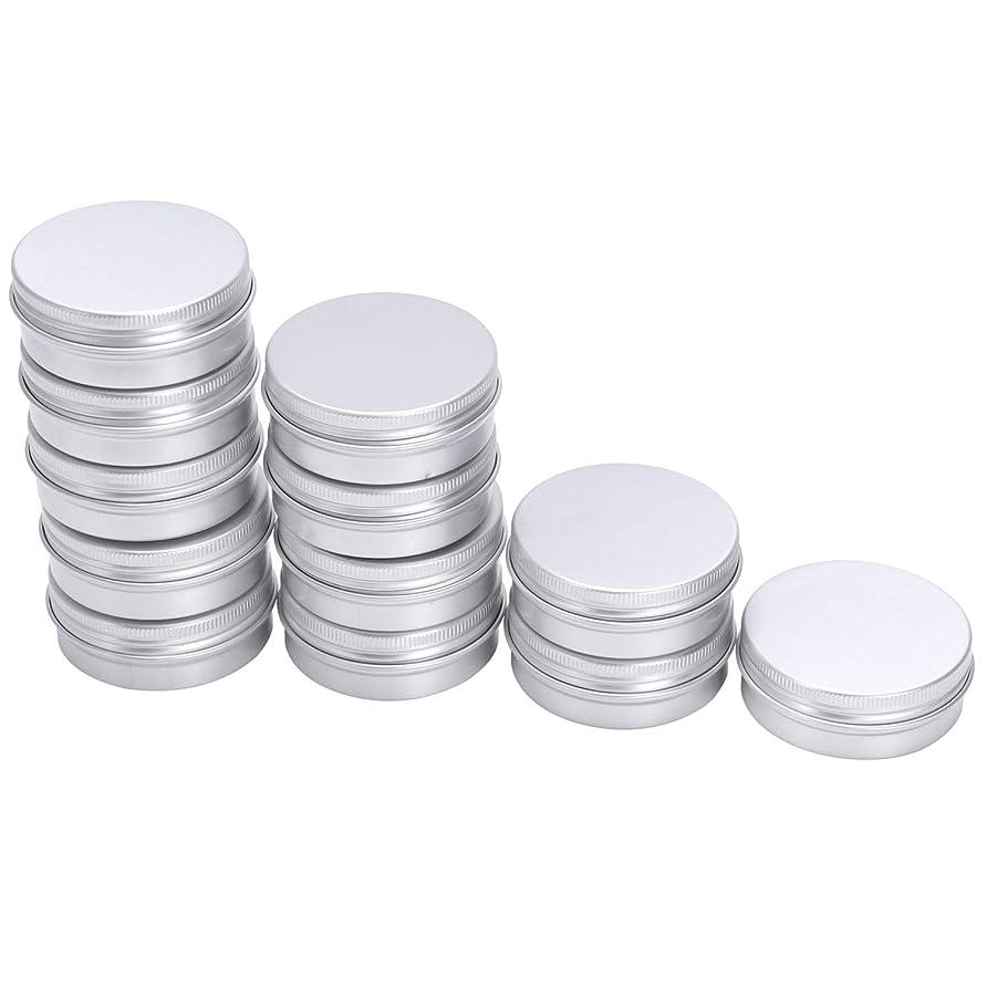 世界的に抑止する性別Naliovker 12 x 50mlアルミ製ポット 50mlの容量 空 小型化粧品/キャンドル/スパイスポット缶瓶
