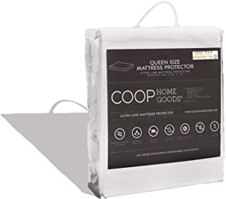 COOP HOME GOODS - Mattress Protector - Waterproof and Hypoallergenic - Soft and Noiseless Lulltra Fabric from Bamboo Derived Rayon - Protection Against fluids - Oeko-TEX Certified - Queen
