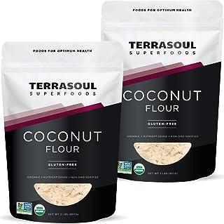 Terrasoul Superfoods Organic Coconut Flour, 4 Lbs - Gluten-Free   Unrefined   Fine Texture   Premium Quality