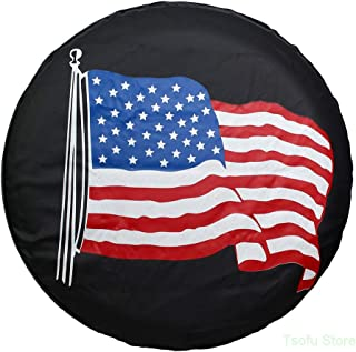 Spare Tire Cover PVC Leather WaterProof Dust-proof Universal Spare Wheel Tire Cover Fit..