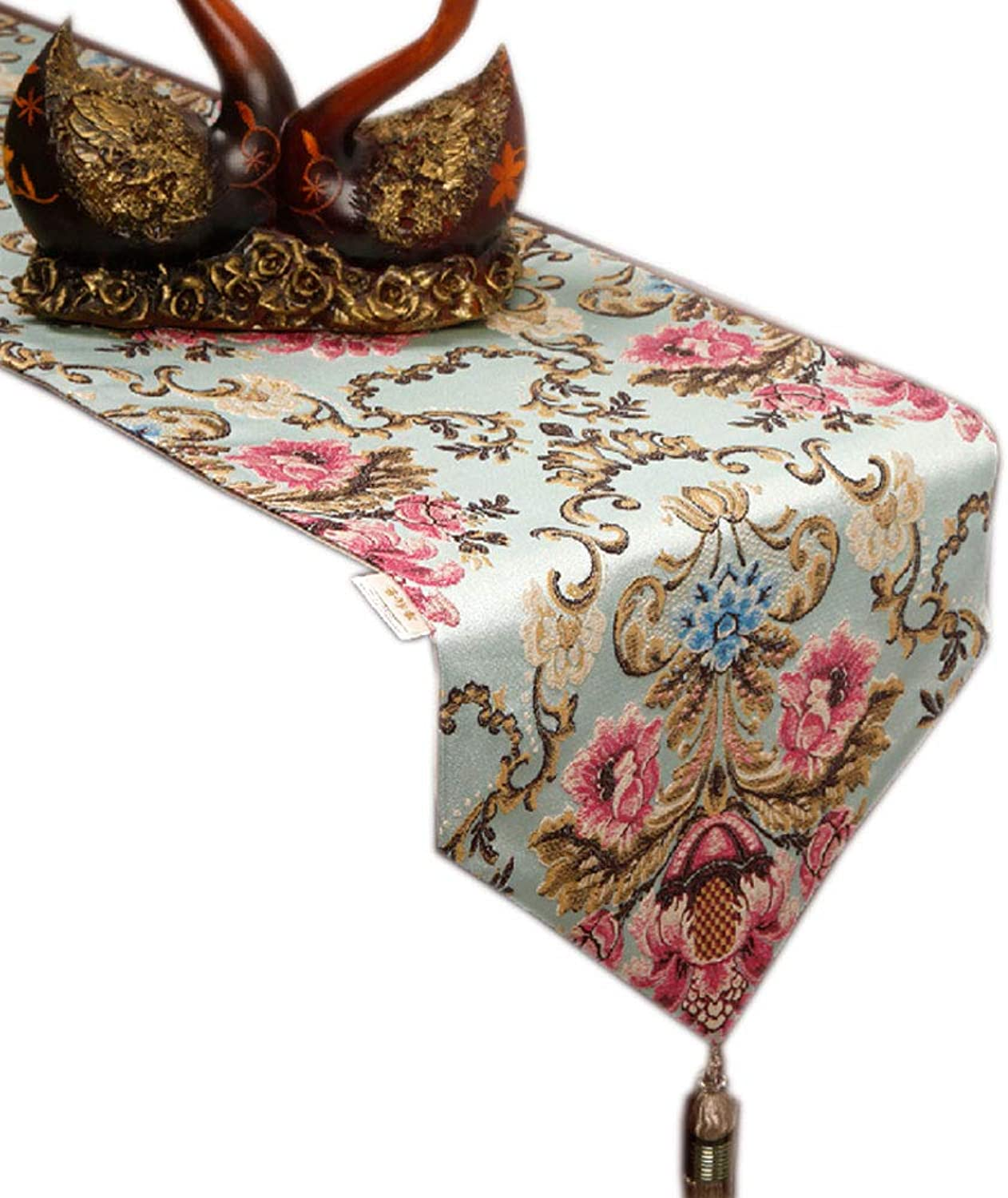 Xiao Mi Guo Ji Table Flag Garden Table Flag Flag Table Coffee Table Flag Bed Flag Home Coffee Table Decoration TV Cabinet Cover Cloth Towel Home Fabric Decoration Table flag (Size   33x180cm)