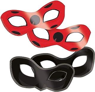 amscan 8 Masques en Carton Ladybug
