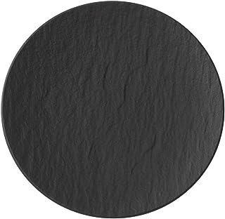 Villeroy & Boch Manufacture Rock Assiette à pain, à structure vaisselle en porcelaine Grande Qualité En Gris, 16cm, blan...