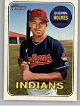 2018 Topps Heritage Minors #84 Quentin Holmes AZL Indians Official Minor League Baseball Trading Card