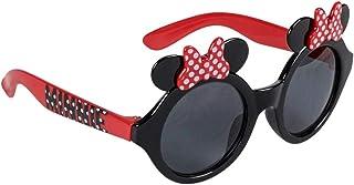 Minnie-Mouse - Gafas de sol para niña, diseño de nudo de Minnie, color negro y rojo, talla única (3 a 8 años)