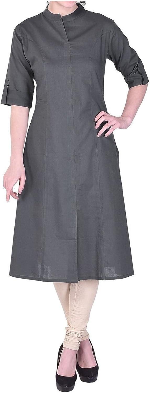 Muta Fashion Cotton Blend Semi Stitched Free Size Traditional Women Kurti