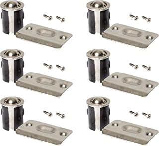 (6 Pack) Satin Nickel Closet Door Drive-in Ball Catch with Strike Plate Premium Quality