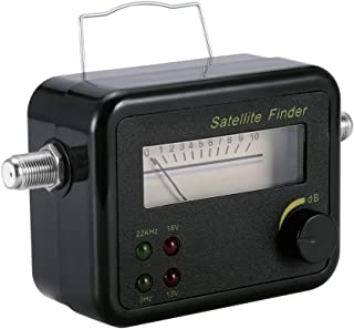 Vingtank Signal Meter, DVB-T Mini Digital Satellite Signal Finder Meter with Hanger, TV Antenna Signal Strength Meter, TV Reception Systems