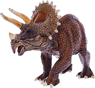 Geminismart Famous in-Home Learning Brand Jurassic World Park Dinosaurs Early Science Education and Collectible Action Figures Toys as Gifts for Kids Children and Party Supplies (C-Brown Triceratops)
