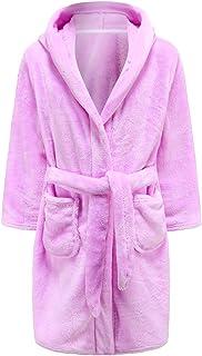 أردية حمام للبنات والأطفال الصغار أردية مقنعين من الفلانيل ملابس نوم للأطفال البنات