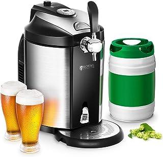comprar comparacion Royal Catering Dispensador de Cerveza Tirador de Cerveza con Refrigeración RCBD-5L (para todos los barriles de 5 L, Refrig...