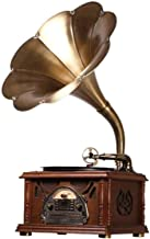 $1772 » CHUXJ Vintage Retro Classic Gramophone Phonograph Shape Stereo Speaker Sound System Music Box Audio Blue Tooth Aux-in Driv...