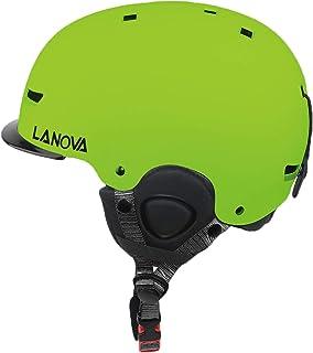 UNISTRENGH Warmest Snow Sports Helmet Adjustable Comfy Ski Snowboard Skate Helmets with Mini Visor