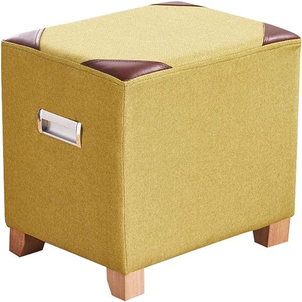 Creative Sofa Stool Solid Wood Frame Cotton Linen Stool Living Room Change Shoes Stool Fashion Multicolor