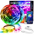 Daybetter Led Strip Lights 100ft (2 Rolls 50ft) Bluetooth Light Strips with App Control Remote, 5050 RGB Led Lights for Bedroom, Music Sync Color Changing Lights for Room Party