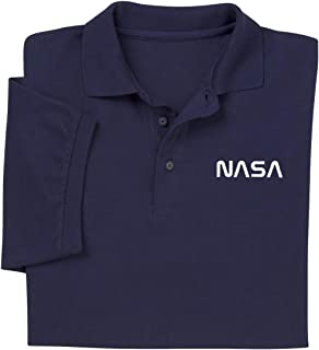 ComputerGear NASA T Shirt Polo Golf Worm Space Science Geek Officially Licensed