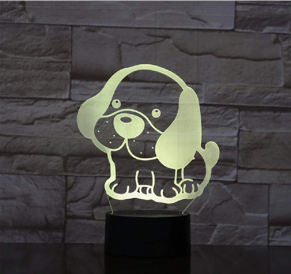 Cute Puppies Dog 3D Lamp 20 Color Kids B for Topics on TV LED Night Light USB Max 76% OFF