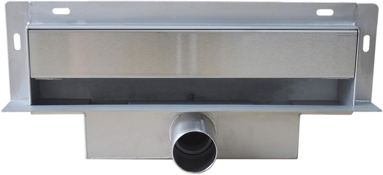 Wandablauf Duschablauf WD-GT02 inkl. Ablaufblende - Lnge whlbar, Lnge Duschrinne 300mm