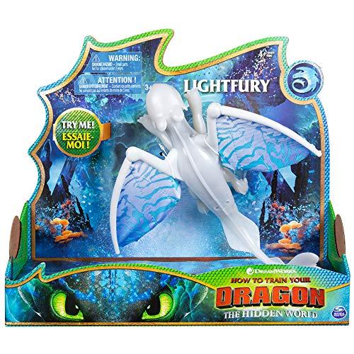 Cómo Entrenar a tu Dragón Dragón Articulado Deluxe Furia Luminosa (BIZAK 61926626)