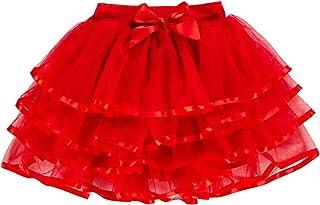 8064b43cb83e8 storeofbaby Petites Grandes Filles Tulle Tutu Jupe 4 Couches Jupe de fête  habillée 2-13