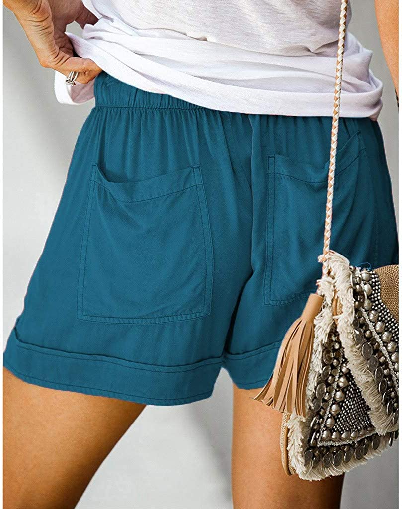 Uppada Women's Casual Plus Size Shorts Drawstring Comfy Sweatpants for Women with Pockets Sports Beach Holiday