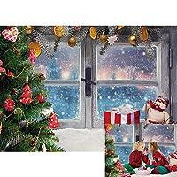 GooEoo 9x6ft冬のスノーフレーククリスマスウィンドウシル雪の背景新年パーティー壁の装飾スタジオ小道具バナー家族パーティー誕生日の背景ベビーシャワーの装飾ビニール素材