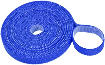 uxcell Reusable Cable Ties, Hook and Loop Cord Strap, 5.5 Yard X 0.5 Inch Blue 1 Roll