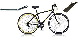 LIG(リグ) クロスバイク 700C シマノ7段変速[サムシフター] 前輪クイックリリース 前後キャリパーブレーキ LIG MOVE ブラック (前後フェンダー付き) 36381