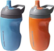 Tommee Tippee Insulated Sportee Toddler Water Bottle with Handle, Boy - 12M+, 2ct, Blue & Orange