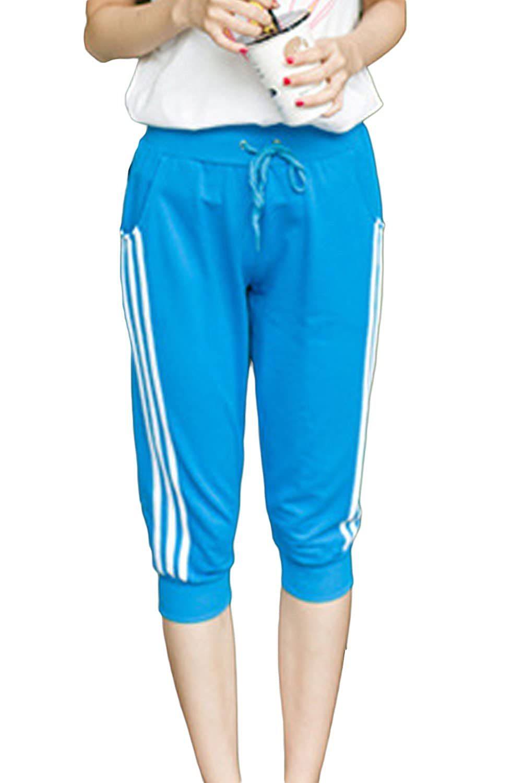 [美しいです] レディース ズボン 五分丈パンツ カジュアル チノパン スリム スキニー ストレッチ テーパードパンツ ゴムひも スポーツ