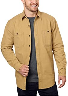 G.H.Bass & Co. Men's Stretch Twill Canvas Shirt, Forest Night