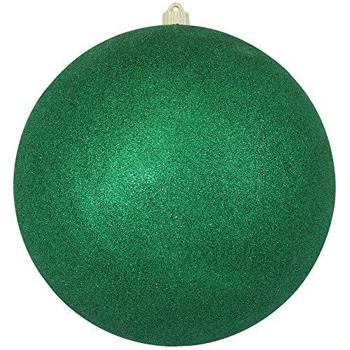 Christmas By Krebs Giant Commercial Grade Indoor Outdoor Moisture Resistant Shatterproof Plastic Ball Ornament, 12 (300mm), Emerald Green Glitter
