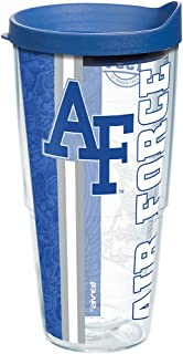 Tervis Air Force Falcons College Pride Tumbler with Wrap and Blue Lid 24oz, Clear