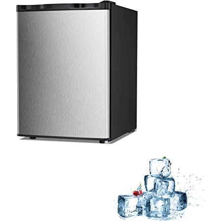 Electactic Mini Freezer Countertop 2.1 Cu.ft Small Freezer Upright Stainless Steel Compact Upright Freezer with Reversible Single Door, Free Standing Mini Freezer with Adjustable Thermostat (El-05)