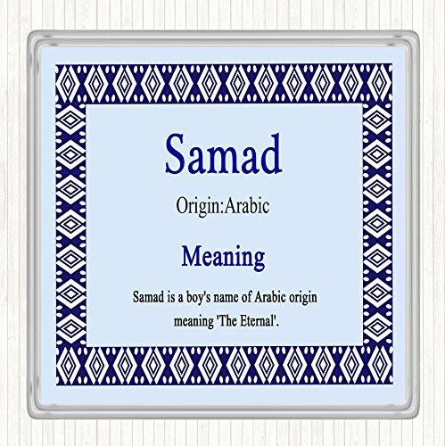 Samad Naam Betekenis Dranken Mat Coaster Blauw