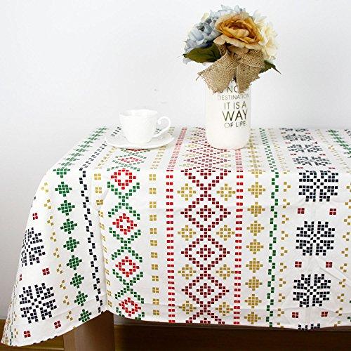BLUELSS Fashion Coton Lin Nappe Cirée Taille Personnaliser Coréen Caven Décoratif,Capot Table 60x60cm