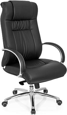 HJH Office - 724000 silla de oficina XXL G 600 piel sintética negro, buen acholchado
