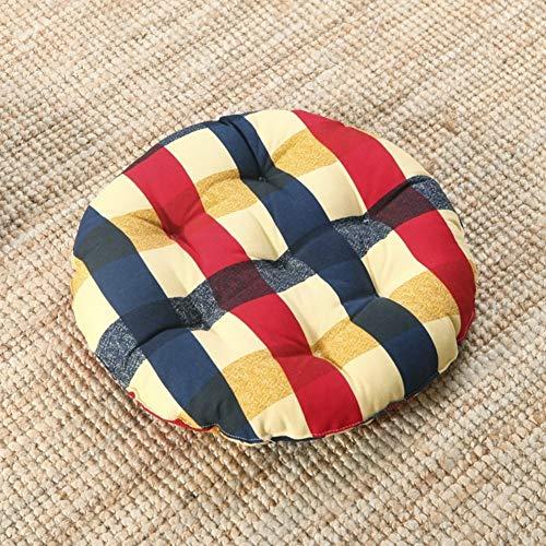 YLCJ kussen, rond, van linnen, volledig katoen, vulling van rieten voor stoel, dikke pastore, schone pasvorm, voor bureaustoel, tapijt, rond, diameter 40 cm