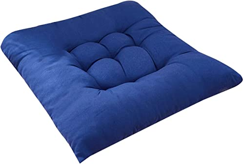 popular Chair outlet online sale Pads Seat Cushion Cotton with Ties,Outdoor Indoor Soft Thicken Comfy online Seat Pads Cushion Pillow,Kitchen Chair Cushions for Patio Wicker Seat Cushions Lounger Garden Furniture Patio (Dark Blue) outlet sale