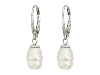Majorica 8 mm Baroque Pearl Earrings (White) Earring