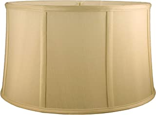 American Pride Lampshade Co. 72-78097014 Round Soft Tailored Lampshade, Shantung, Honey
