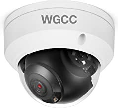 WGCC Dome POE IP Camera Onvif 4MP 2.8mm Wide Angle IP Exterior Camera Indoor Outdoor Wired PoE Network Camera with 98ft Security IR Night Vision, Remote Viewing, IP67 Waterproof