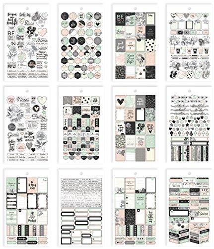 Simple Stories Carpe Diem Schöne Mini-Aufkleber, Papier, mehrfarbig, 17,1 x 10,2 x 0,4 cm