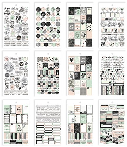 Unbekannt Simple Stories Carpe Diem Wunderschöne Mini Aufkleber, Papier, Mehrfarbig, 17,1x 10,2x 0,4cm