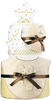 今治タオル imabari towel 出産祝い 日本製 オーガニック 2段 おむつケーキ シフィール パンパースS