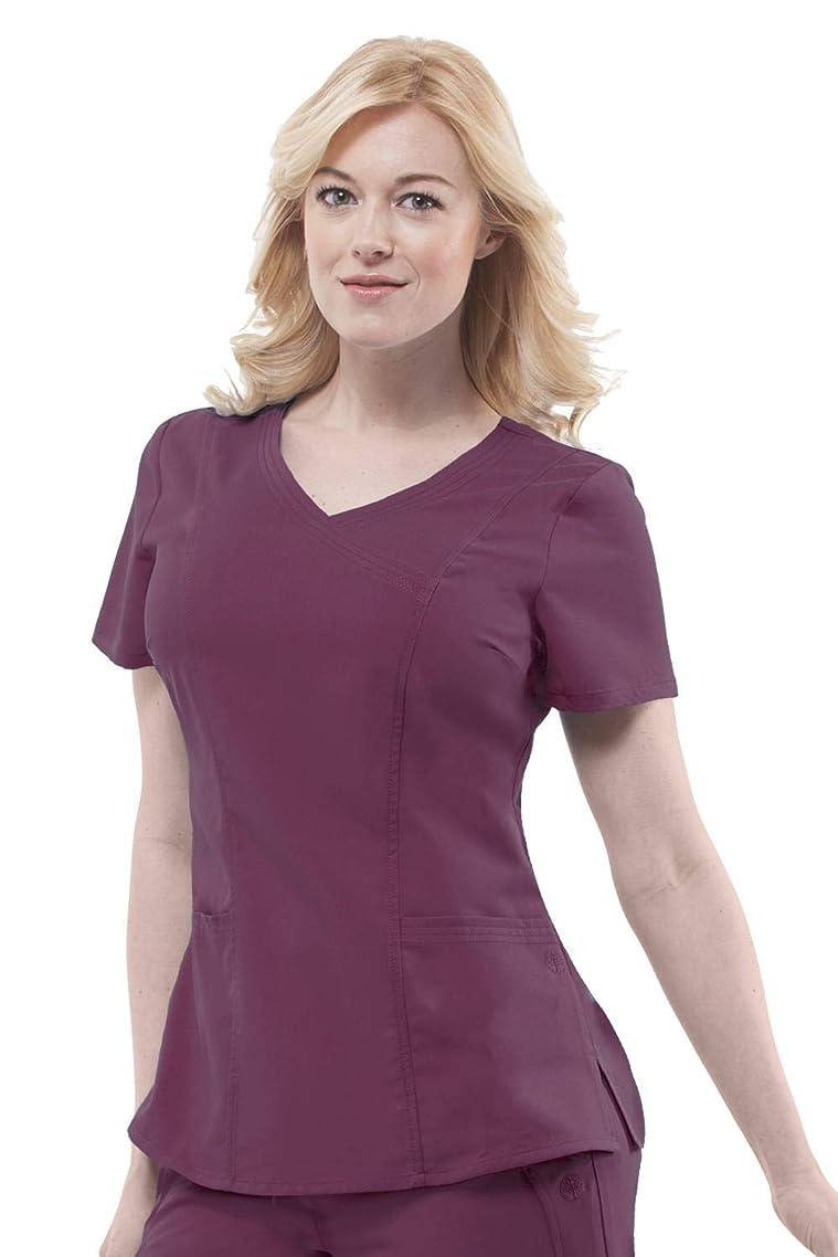 healing hands Purple Label Women's Jordan 2172 Mock Wrap Scrub Top Scrubs