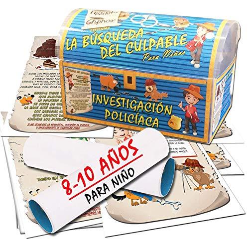 Búsqueda del tesoro en forma de investigación policíaca – para niño 8-10 años - para fiestas de cumpleaños – juegos para niños