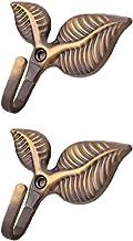 Dosige 1 paar retrostijl kledinghaken nostalgische haken garderobehaken mantelhaken wandhaken bladvorm Retro bronskleurig